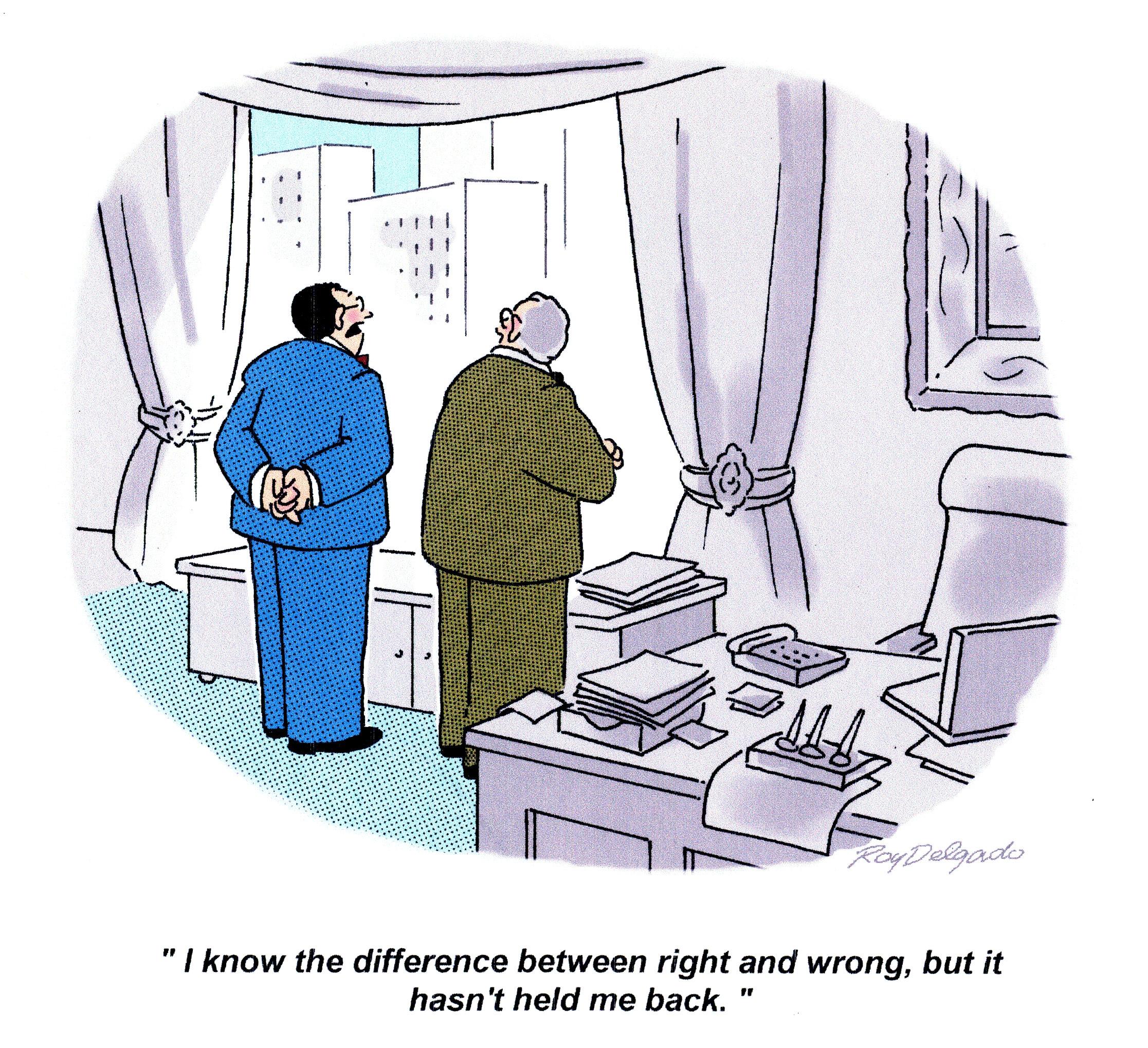 Cartoon – Modern Ethics   HENRY KOTULA